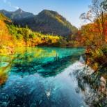 езеро в Китай есен