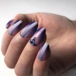 пленителен лилав маникюр
