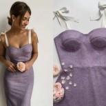 люлякова вталена рокля