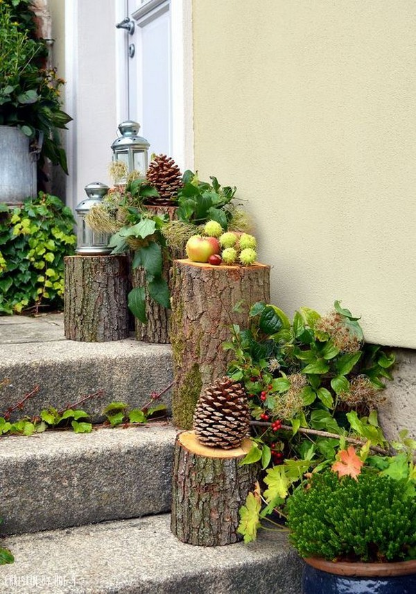 красива идея с отрязани дървета