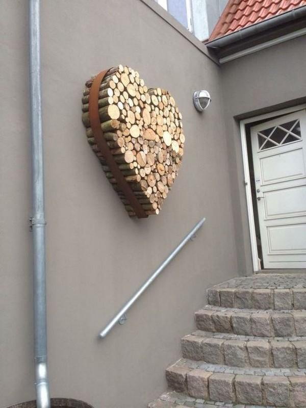 сърце от отрязано дърво