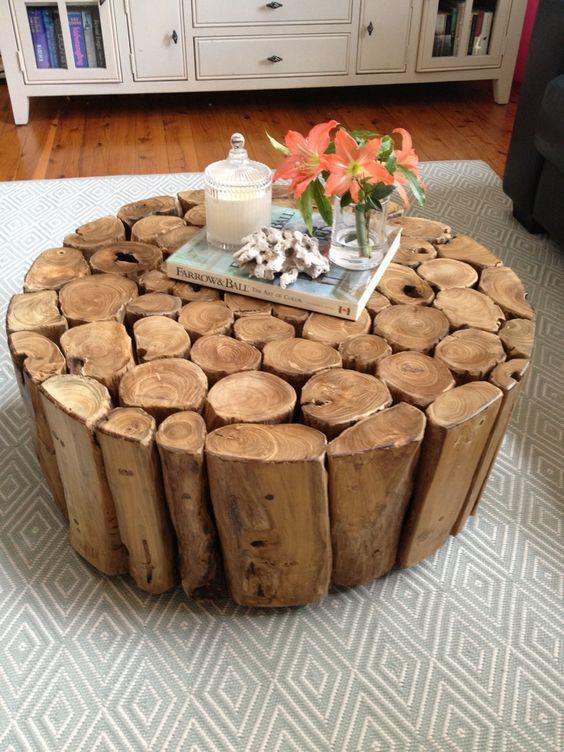 масичка от нарязани дървета