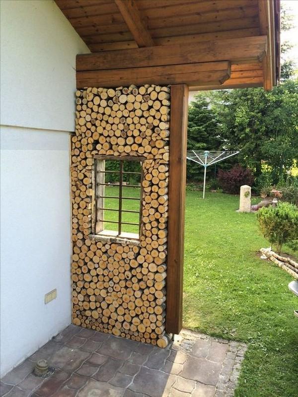 красива идея с нарязани дърва