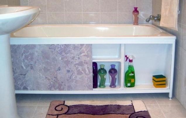 съхранение под ваната