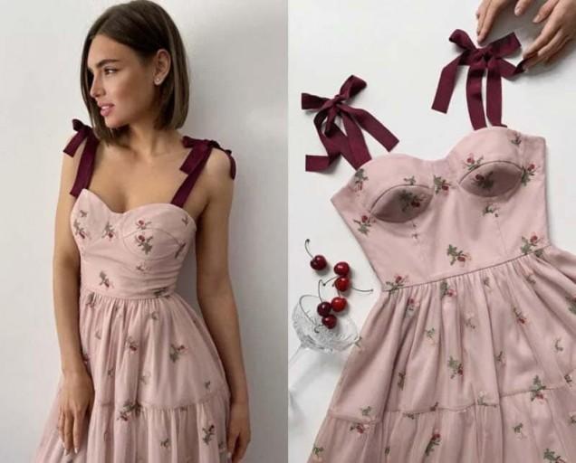 сладка рокля с корсет