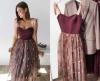 дълга рокля с корсет