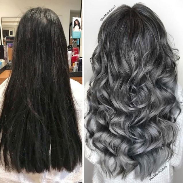 Как да си направя косата сива