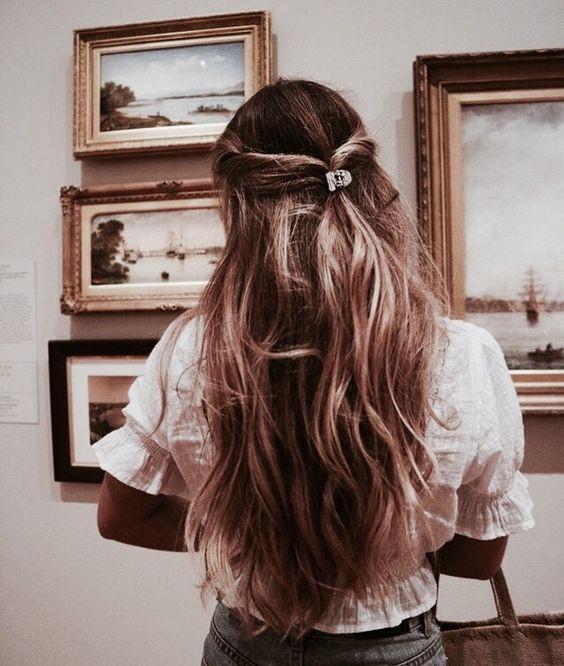прическа пусната коса