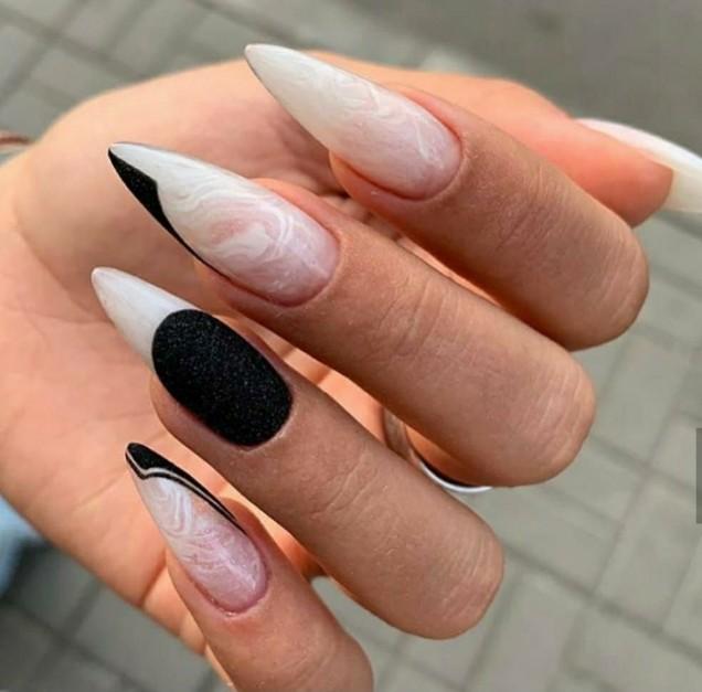 великолепен нейл арт дълги нокти