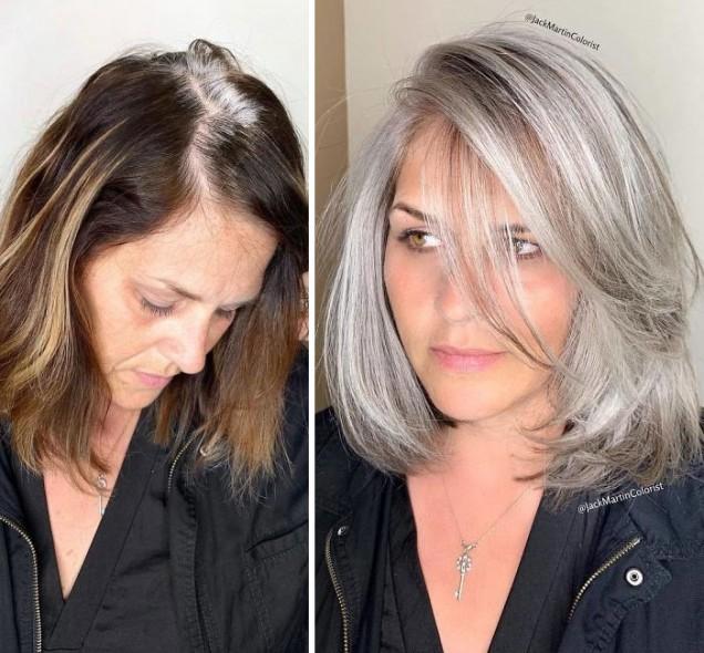 Сивата коса е нова тенденция