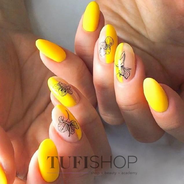 жълт слънчев маникюр