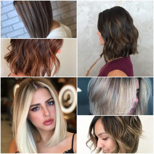 Прически за средно дълга коса с обем