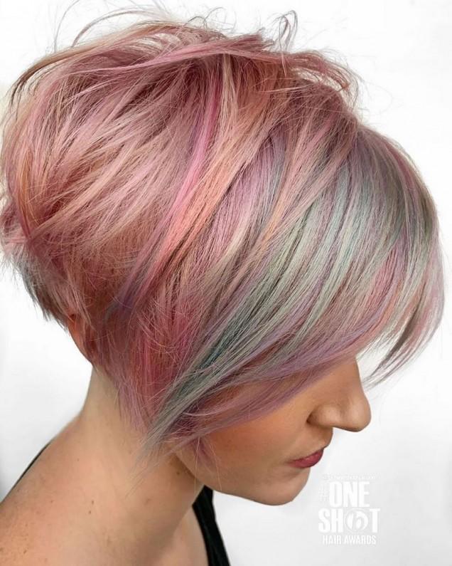 модерни зимни цветове в косите