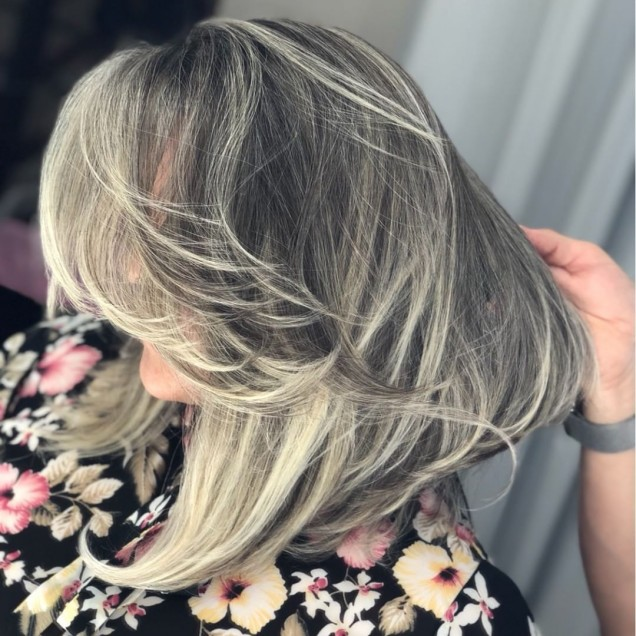 Филирана коса на етажи
