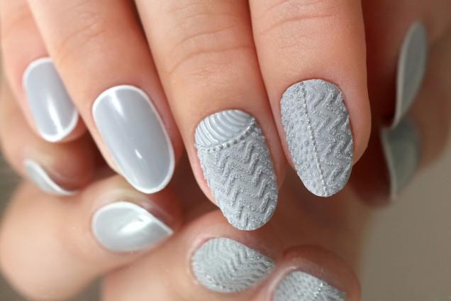 плетени къси нокти