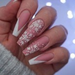зимен френч дълги нокти
