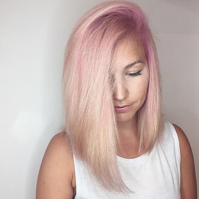 Прически за средна коса