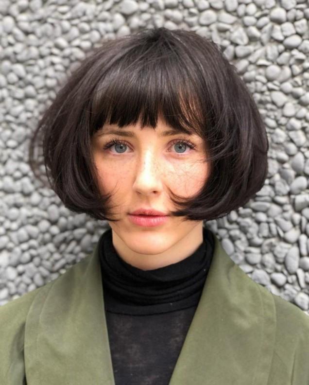 френски боб гъста коса