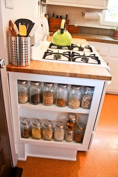 място за съхранение в кухнята