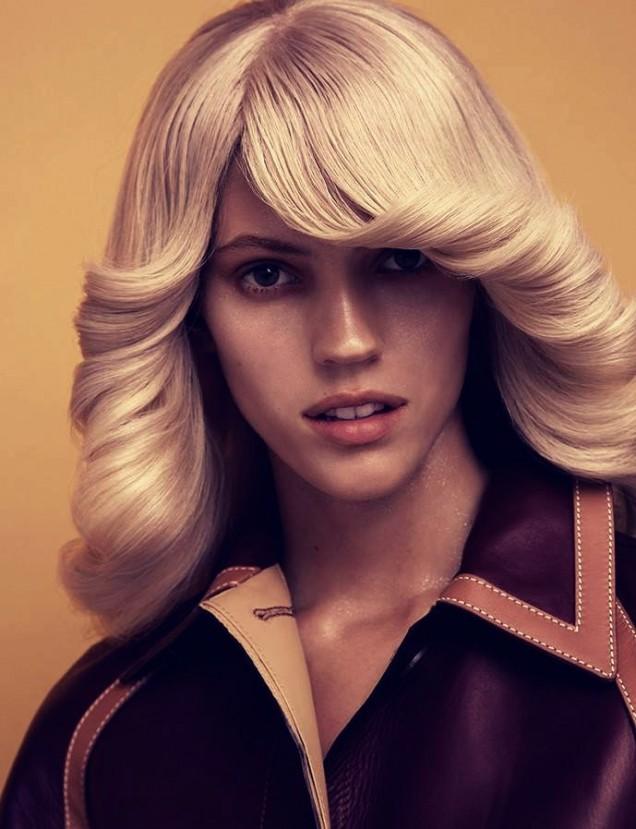 прическа в стил 70-те
