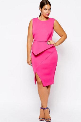 рокля с бюстие в розово