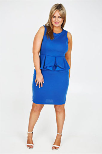 синя рокля с бюстие