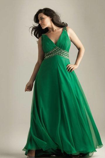 дълга рокля с А-линия