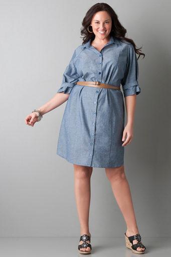 рокля риза с колан