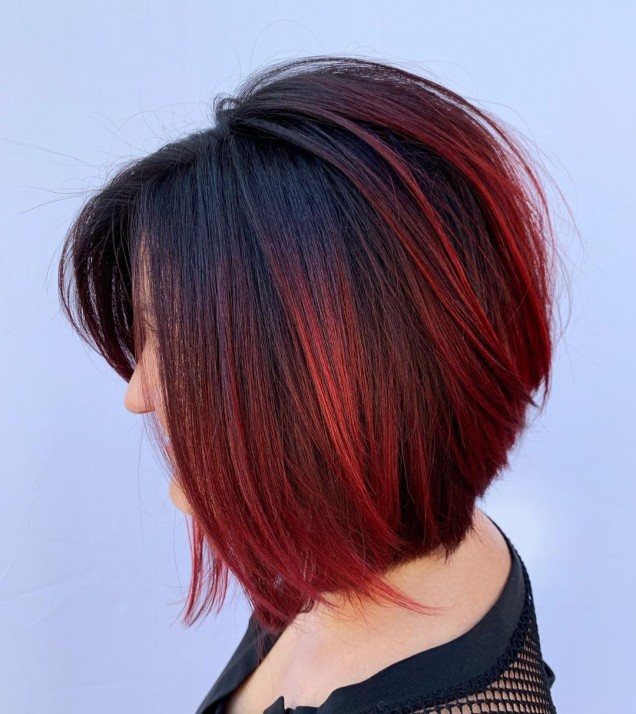 Балеаж за тъмна коса