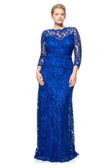 дантелена дълга рокля