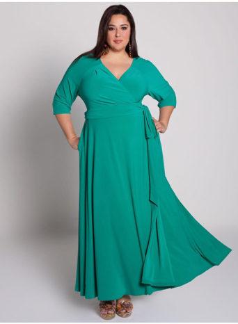 дълга рокля с прихлупване