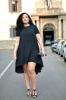асиметрична рокля широка талия