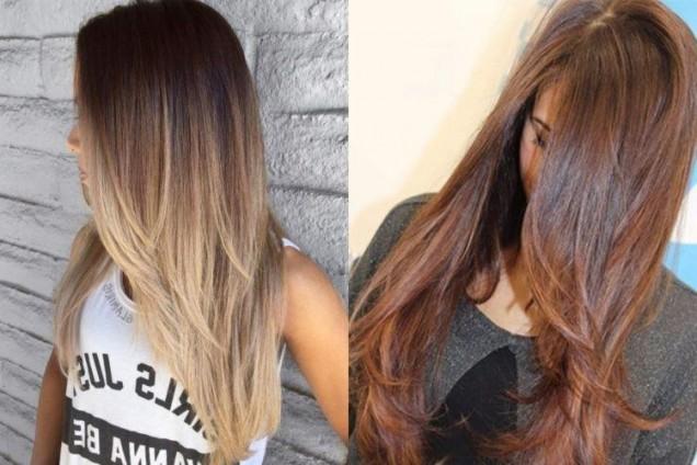прическа стълба права коса
