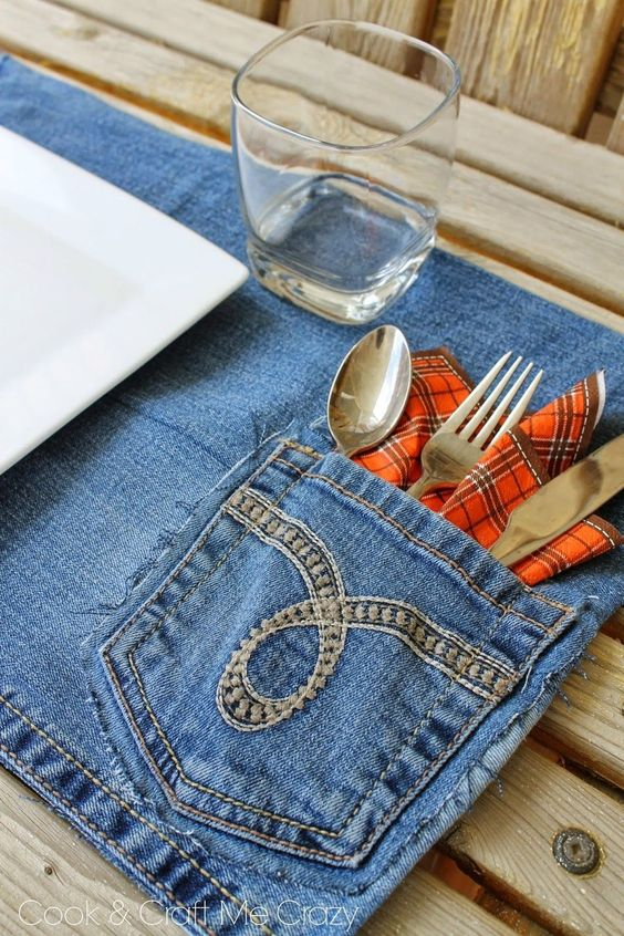 подложка за хранене дънкова