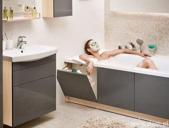 умен шкаф под ваната