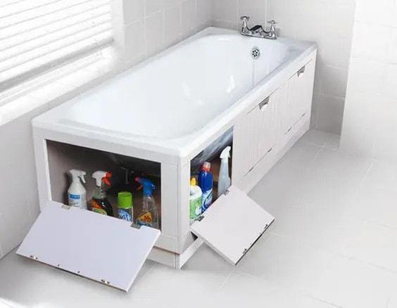 шкаф за съхранение под ваната