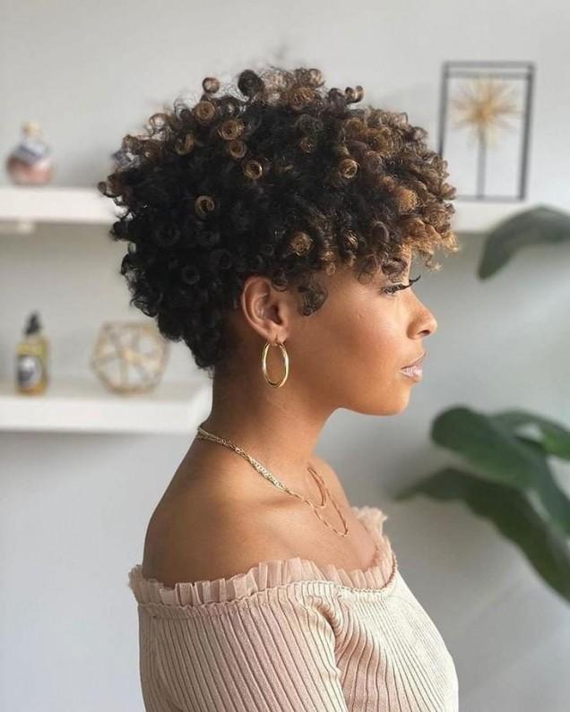 афро прическа къса коса