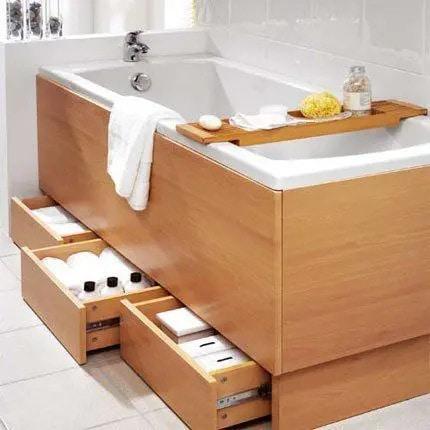 чекмеджета под ваната