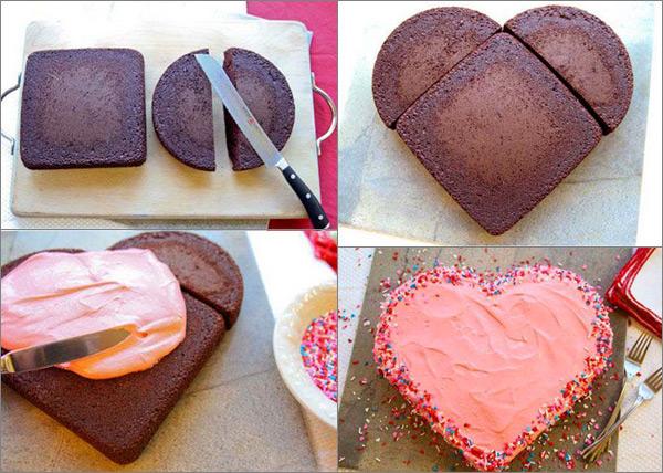 торта сърце схема