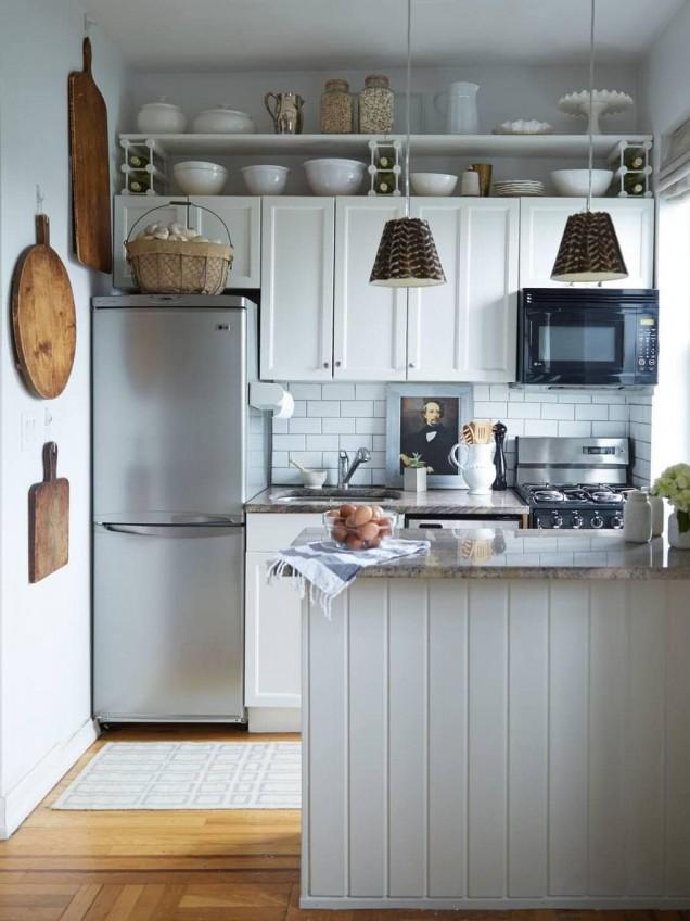 малка кухня с барплот