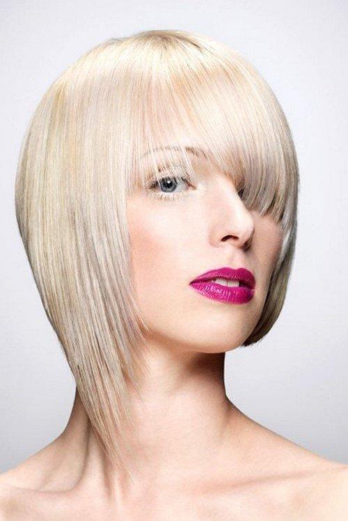 асиметрична прическа рядка коса