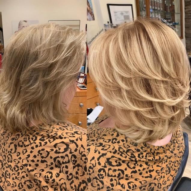 висока каскада руса коса