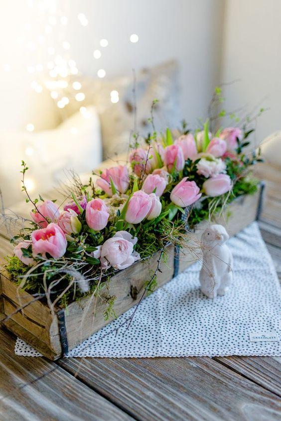 великденска украса с цветя