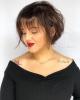 Прическа боб с бретон за кръгло лице-12 красиви идеи , които подчертават точните форми на лицето