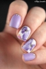 лилав флорален маникюр