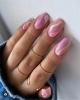 гол пролетен маникюр с розово