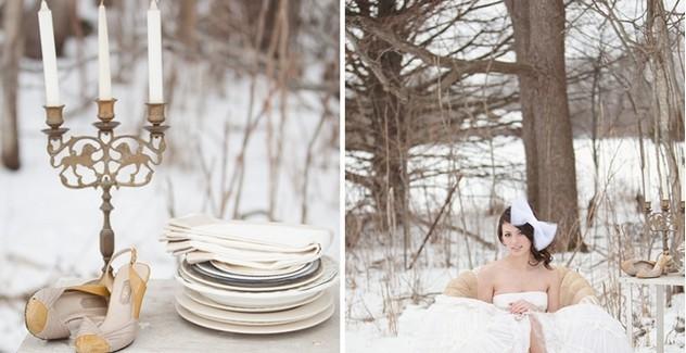 Сватба като приказка през зимата