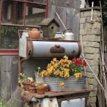 цветарник от старата печка
