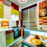 красива цветна кухня