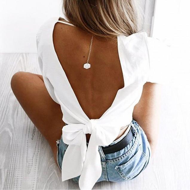 модерна блуза с гол гръб